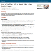 Gartner: How a chief data officer should drive a data quality program