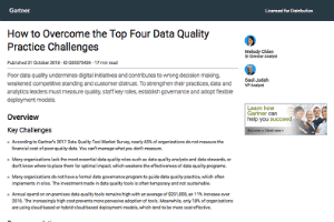 How to Overcome the Top Four Data Quality Practice Challenges