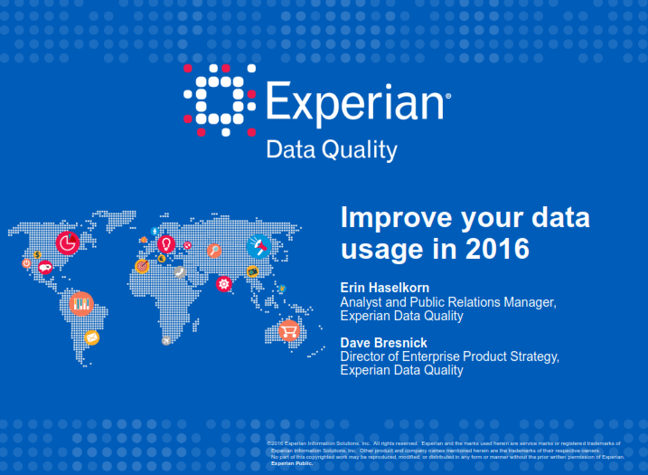 A recap of our 'Improve your data usage in 2016' webinar