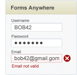 in-line email form validation for marketing automation