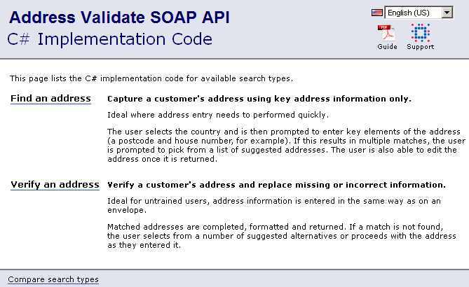 Address Validate SOAP sample code guide | Experian