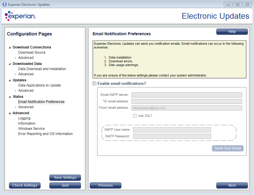 Experian Electronic Updates installation guide | Experian