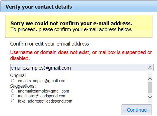 Email Validate API sample code guide | Experian