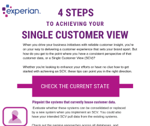 4 Steps to achieving your single customer view