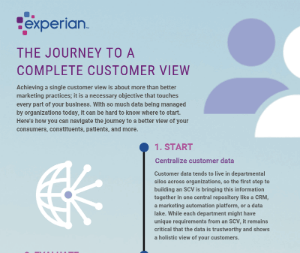 The journey to a complete customer view