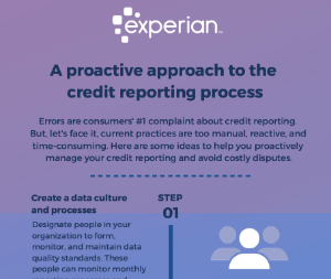 A proactive approach to the credit reporting process