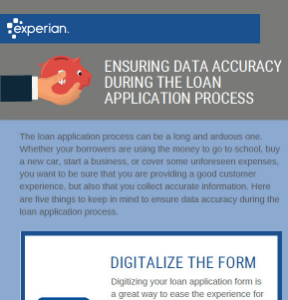Ensuring data accuracy during the loan process