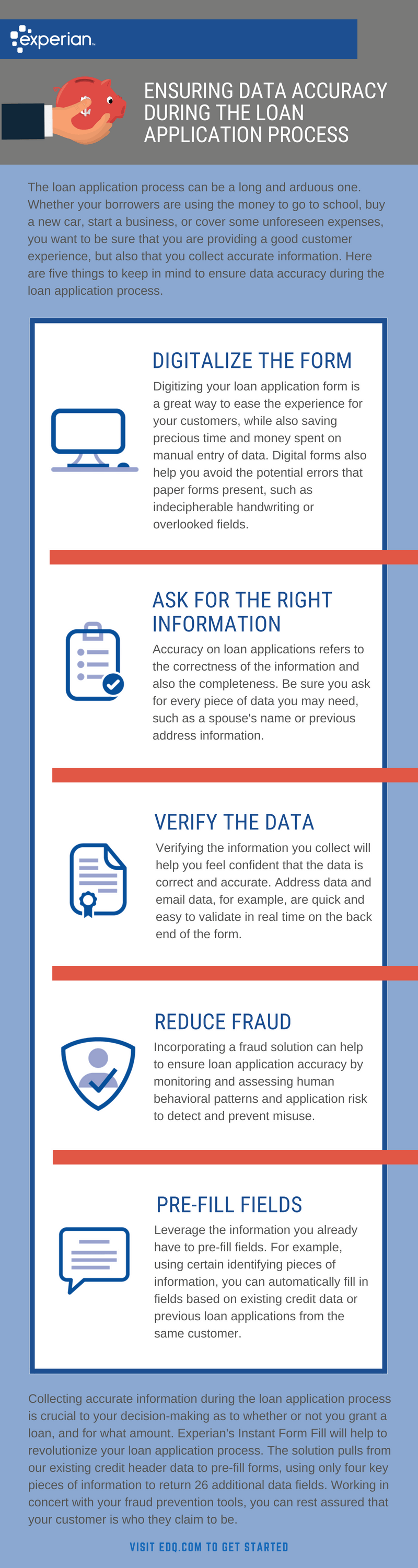 ensuring data accuracy infographic