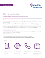 Phone verification product sheet