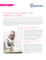 5 reasons to step up your credit reporting practices