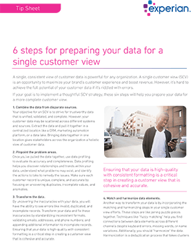 6 steps to preparing your data for a single customer view