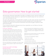 Data Governance: How to get started