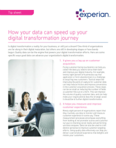 How your data can speed up your digital transformation journey
