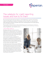 The catalysts for credit reporting issues and how to fix them