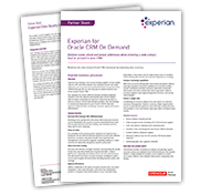 Experian Data Quality for Oracle CRM On Demand