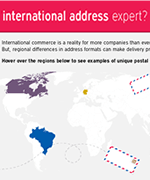 Who's an international address expert?