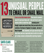 13 unusual people to email or snail mail