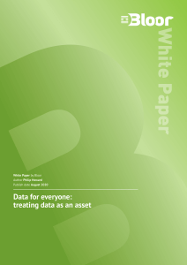 Data for everyone: treating data as an asset